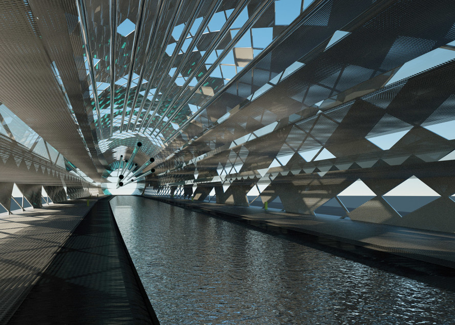 Innovadora y artística estructura que desaliniza agua de mar con energía solar