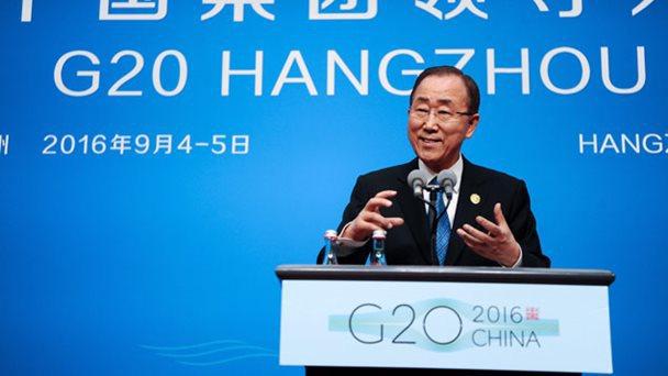 Ban Ki-moon pide al G20 ratifique el acuerdo de París siguiendo a EEUU y China