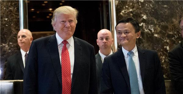 Jack Ma de Alibaba se reúne con presidente electo de Donald Trump